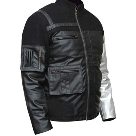 Winter Soldier Civil War Bucky Barnes Costume Leather Jacket