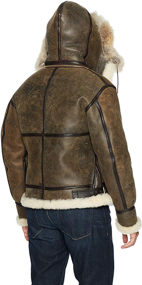 B3 RAF Flying Aviator Sheep Shearling Bomber Flying Leather Jacket