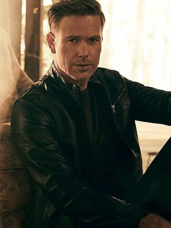 Matt Davis Legacies Black Leather Jacket