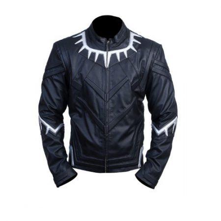 Black Panther Avengers Infinity War Chadwisk Boseman Black Costume Leather Jacket