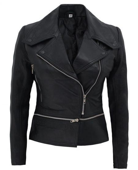 Mens Genuine Lambskin Leather Jacket Slim Fit Biker Motorcycle Jacket T251
