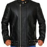 Deadpool Ajax (Ed Skrein) Black Leather Jacket