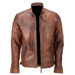 Mens-Distressed-Leather-Jacket-Biker-Lambskin