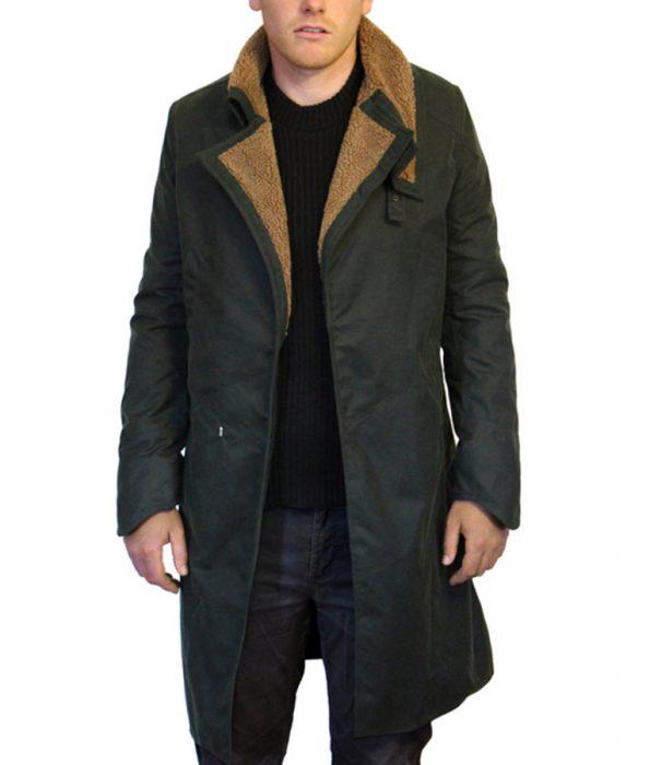 Ryan-Gosling-Blade-Runner-Officer-K-Black-Leather-Fur-Shearling-Coat