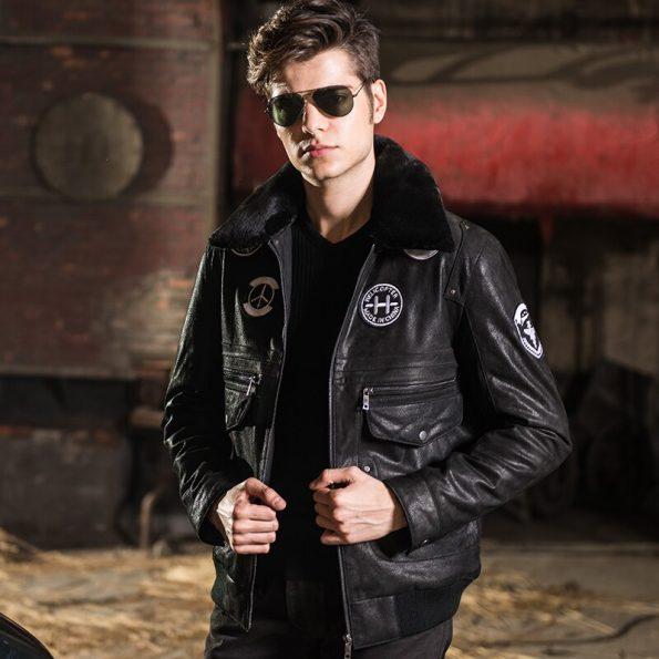 2016-chaqueta-de-cuero-real-para-hombre-chaqueta-de-piel-de-cerdo-chaqueta-de-cuero-genuino (2)