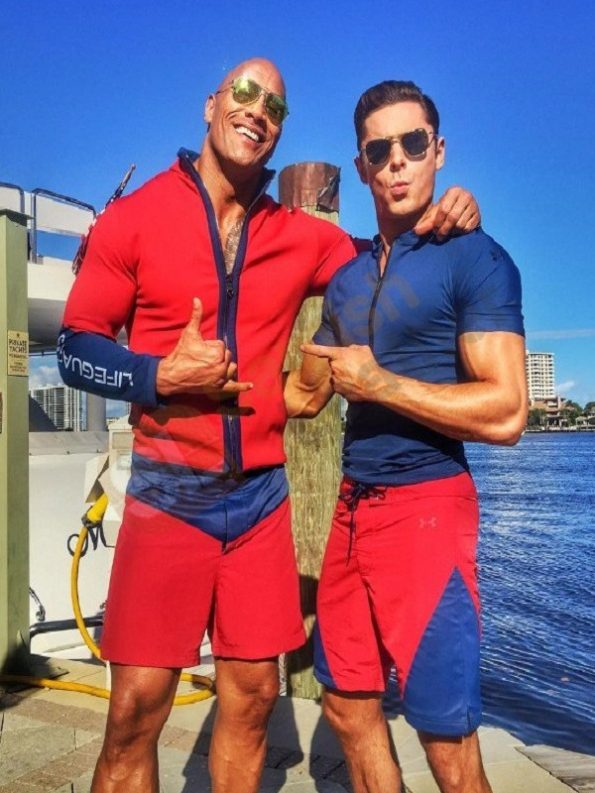 Baywatch-Dwayne-Johnson-Stylish-red-Cotton-Jacket