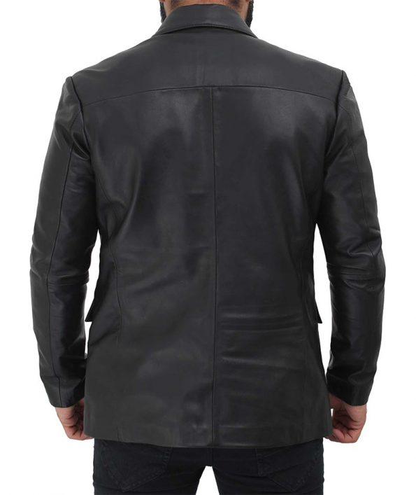 Mens-Leather-Blazer-Casual