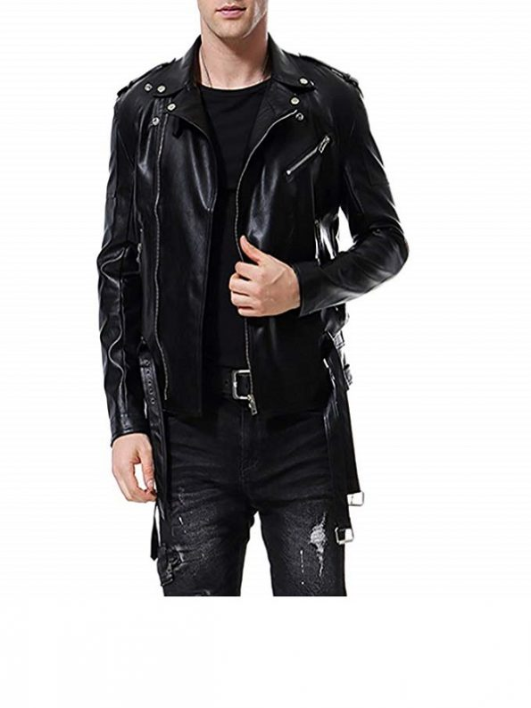 Mens-Slim-Fit-Motorcycle-Faux-Leather-Jacket