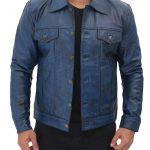 Blue-Leather-Trucker-Jacket