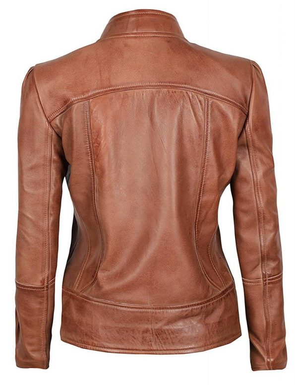 Brown-leather-jacket-cafe-racer-women-biker-style
