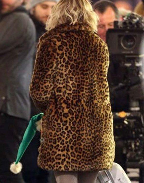 Emilia-Clarke-Last-Christmas-Kate-Animal-Printed-Coat
