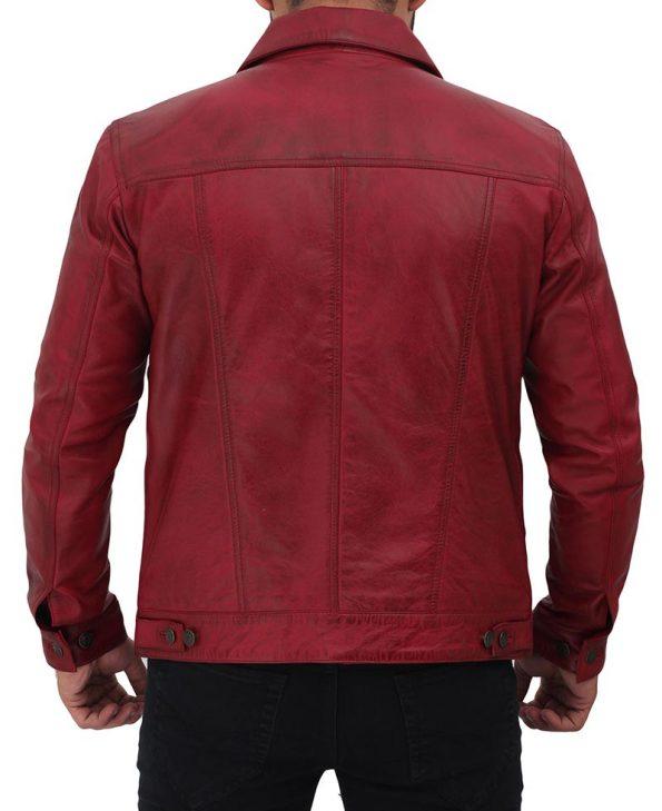 Maroon-Trucker-Jacket