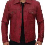 Reddish-Maroon-Trucker-Jacket