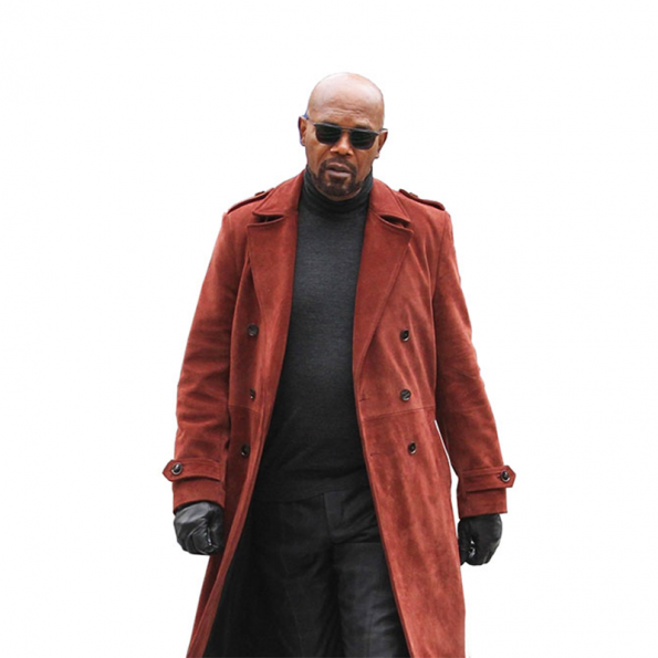 Samuel-Jackson-John-Shaft-Red-Trench-Coat