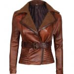 Womens-Brown-Shearling-leather-jacket-tomb-rider