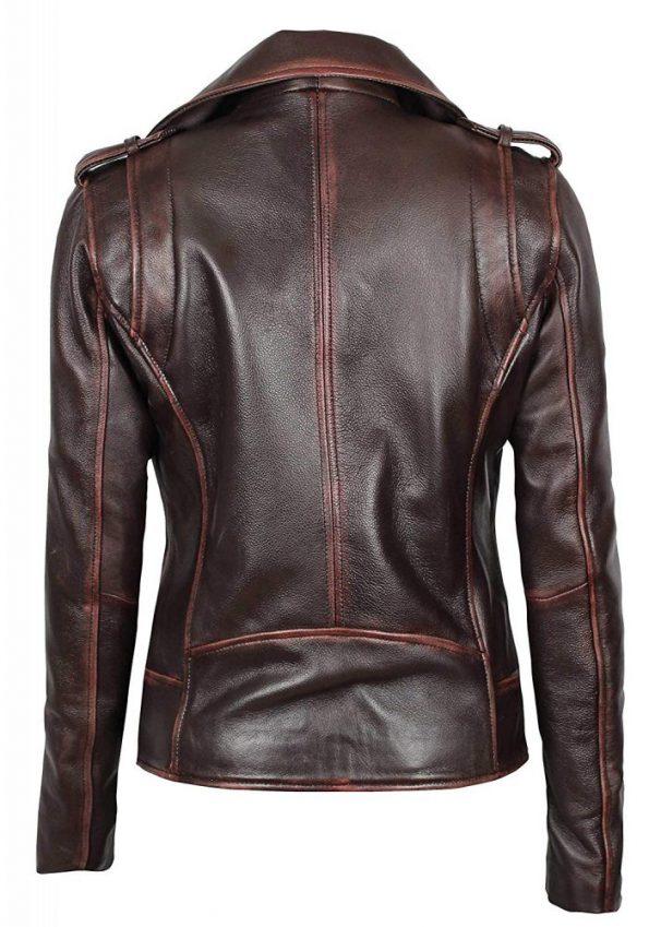 Womens-dark-brown-leather-jacket