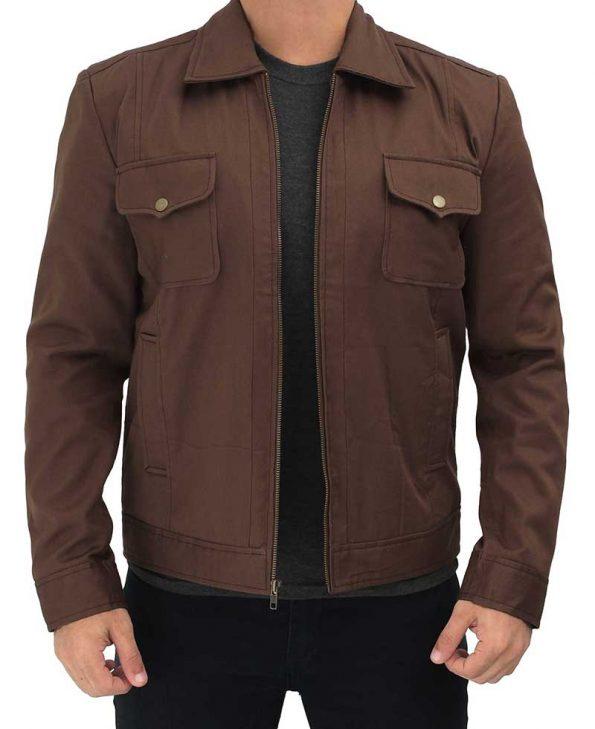 brown-coton-trucker-jacket-men