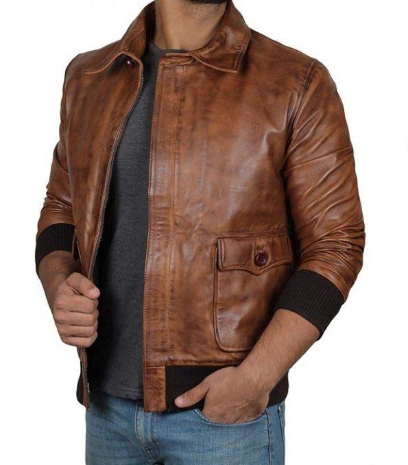 Brown-Bomber-jacket-men-shirt-style-collar-620×707