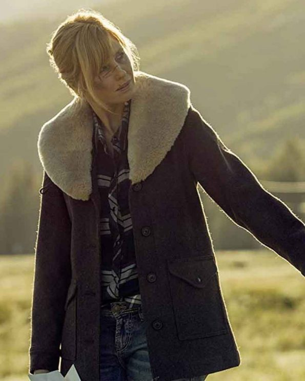 Kelly-Reilly-Brown-Shearling-Yellowstone-S02-Beth-Dutton-Coat