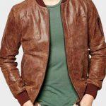 Mens-Dark-Brown-Bomber-Jacket