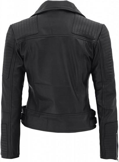Womens-Biker-leather-jacket-black